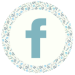 Blue Floral Media Icon - Facebook