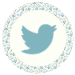 Blue Floral Media Icons - Twitter