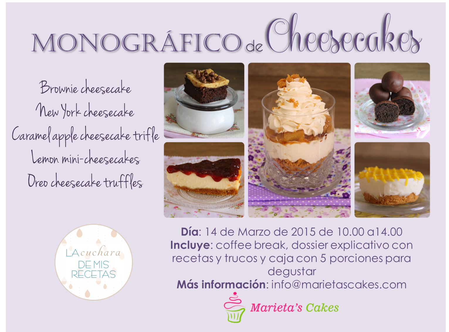 curso cheesecakes